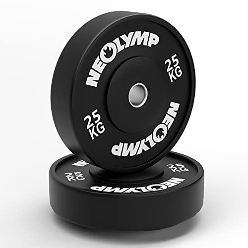 NEOLYMP Bumper Plates | Vollgummigranulat Hantelscheiben | Gewichtscheiben | Studioqualität | 2X 25 KG | BPL210