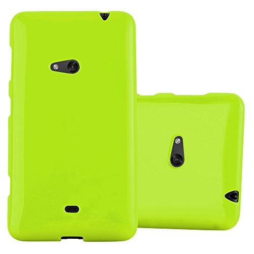 Cadorabo Hülle für Nokia Lumia 625 - Hülle in Jelly GRÜN – Handyhülle aus TPU Silikon im Jelly Design - Silikonhülle Schutzhülle Ultra Slim Soft Back Cover Case Bumper