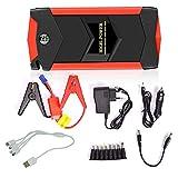 カージャンプスターター800Aピーク26000mAhポータブルカーバッテリー充電器(最大6.0Lガスまたは5.0Lディーゼルエンジン)12V自動バッテリーブースター、LEDライト内蔵の防水パワーパック