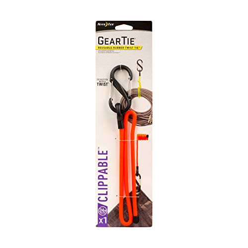 Nite Ize/wastafel opsteekbare gear stropdas, herbruikbaar, incl. S-Biner, 24, neon geel 24-inch, 1 Pack blaze orange