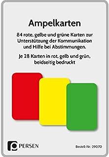 Ampelkarten: Rote, gelbe und grüne Karten zur Unterstützung der Kommunikation und Hilfe bei Abstimmungen 1. bis 4. Klasse
