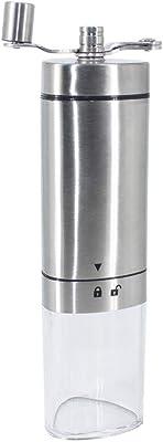家庭用 手挽きコーヒーミル粒度調節スハンドル ポータブルステンレス鋼の手回しグラインダーライトレトロ多コーヒーグラインダー家庭用コーヒーカップ 高品質で美しい防錆 (色 : One color, Size : 20*5cm)