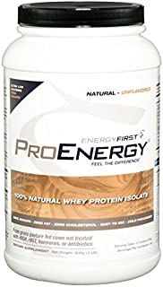 ProEnergy Natural Unflavored Whey Protein Isolate Powder - Unflavored – Unsweetened | 100% Natural | Zero S...