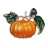 Amosfun Broche en forme de citrouille en alliage pour décoration d'Halloween Jaune