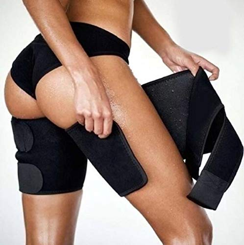 Leg Shaper Sauna Sweat Thigh Trimmers Calories Off Warmer Slender Slimming Legs Fat Thermo Neoprene Compress Belt Face Lift Tool by AdvancedShop