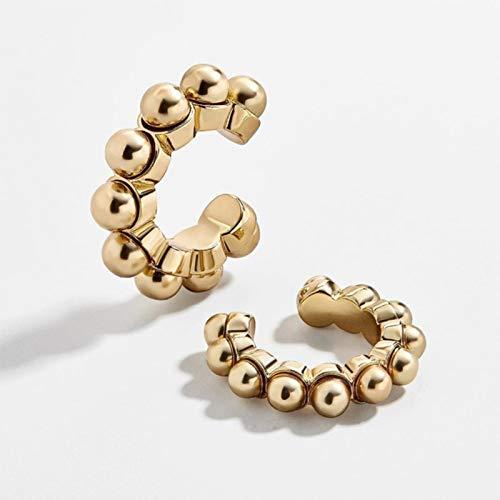 AQUALITYS Pearl Zircon Clip on Earrings Ear Cuffs Stackable Earrings for Women Pierced Cartilage Earring Accessories-1