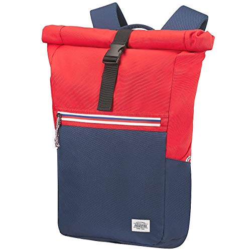 American Tourister Upbeat Rolltop Laptoprucksack Zip 14,1' 54 cm Blue/red