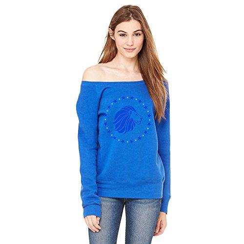 Alpha Delta Pi Mascot Fleece Wide Neck Sweatshirt X-Large True Royal