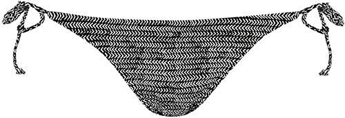 ONeill dames bikinibroek zwembroek bikinislip bikini onderste deel zijdelingse vetersluiting zwart AOP/wit 14 (L)