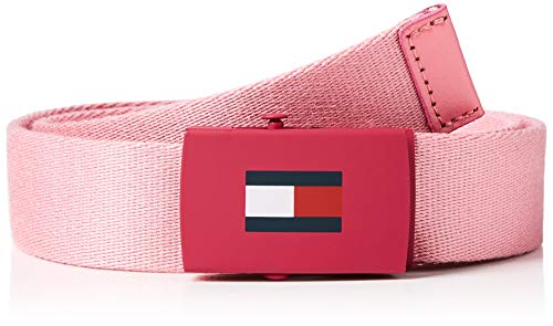 Tommy Hilfiger Kids Plaque Belt 3.0 Cinturón, Rosa (Pink Tf4), Medium Unisex Adulto