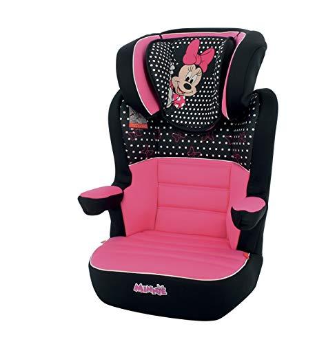 Rialzo per seggiolino per bambini NANIA RWAY gruppo 2/3 (15-36kg) - produzione francese 100% - protezioni laterali - Disney Luxe Minnie