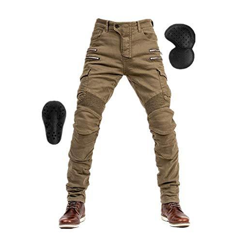 TIUTIU Pantalones Vaqueros Para Motociclista Para Hombres, C