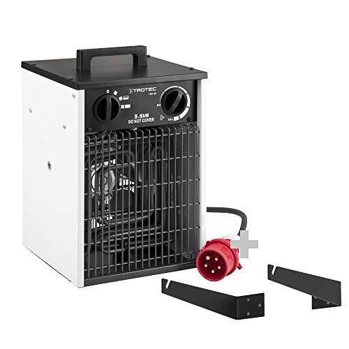 TROTEC TDS 30 Elektroheizer | 5,5 kW Heizlüfter Heizgerät Bauheizer inkl. Wand- und Deckenhalterung