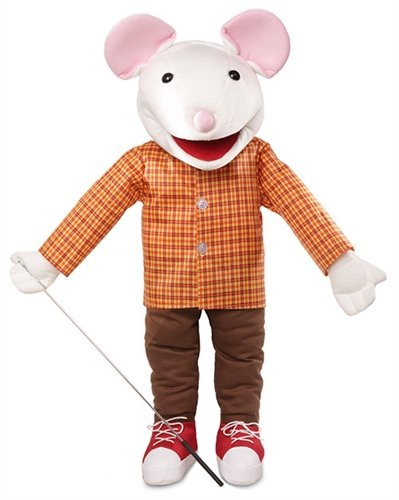 """25"""" Mouse w/ Sneakers, Full Body, Ventriloquist Style, Animal Puppet"""