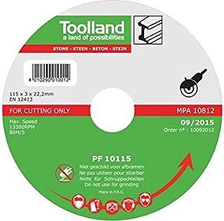 TOOLLAND - PF20115 Slijpschijf, Steen, 115 mm, 174675, 1 Stuk