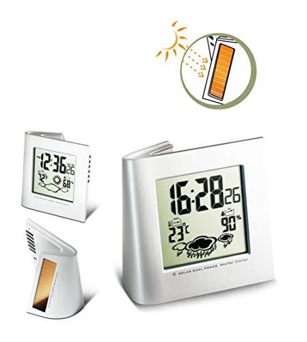 Alarm Clock Wecker Kreativ Umweltschutz Sonnenenergie Wettervorhersage Elektronische Uhr Wecker Ewiger Kalender