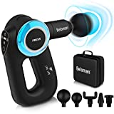 Beloman Muscle Massage Gun with Adjustable Arm, Handheld Deep Tissue Percussion Massage Gun for Athletes, Portable Body Massager for Muscle Recovery and Soreness Pain Relief with 5 Massage Heads