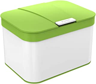 Ibergrif - Kitchen Countertop Bin with Lid, Hygienic Waste Disposal Caddy, Plastic, 4.3 litres (25 x 18,8 x 17 cm),