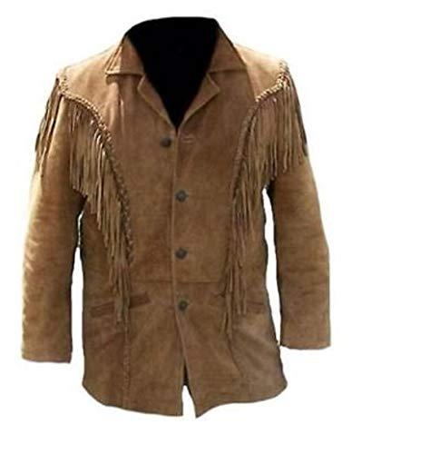 Heren Western Cowboy Real Suede leren jassen te koop 33