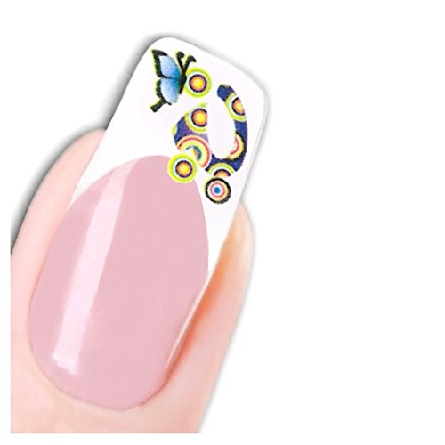Just Fox – Stickers Nail Art pour ongles Butterfly Papillon ongles Pied Stickers water decal