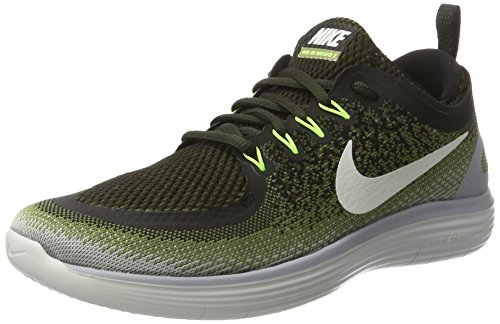 Nike Free Rn Distance 2, Scarpe da Corsa Uomo, Multicolore (Legion Green / White / Palm Green / Black), 40 EU