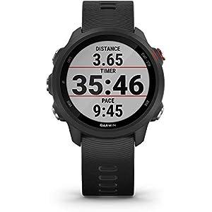 Garmin Forerunner 245 Music (Black) Premium Bundle | +HD Screen Protectors (x4), USB Car/Wall Adapters & Hard Case | Running GPS Watch, VO2 Max, Spotify