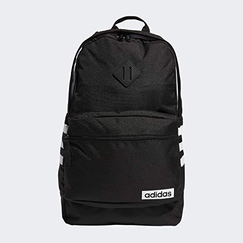 adidas Unisex Classic 3S Backpack, Black/White, ONE SIZE