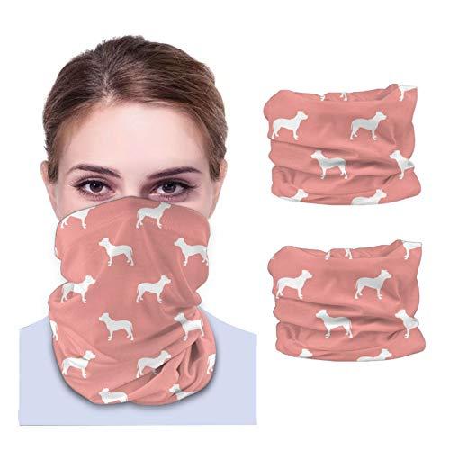 Pitbull Silhouette Dog Dogs - Mascarillas de motocicleta rosa dulce para hombre, bandana para cuello, bufanda para la cabeza, máscara para el sol