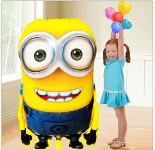 Minions Folienballon Kindergeburtstag 78x76cm XL Ballon Geburtstag Minion Riesiger Disney-Charakter-Folien-Ballon - Kinderparty-Ballone