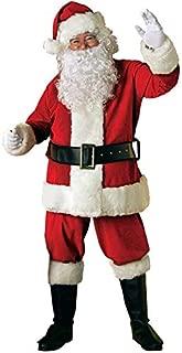 Rubie's Adult Deluxe Velvet Santa Suit With Wig