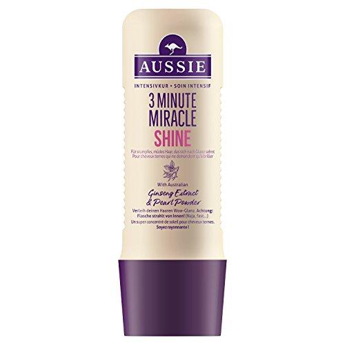 Aussie 3 Minute Miracle Shine Soin Intensif pour Cheveux Ternes et Fatigués 250 ml