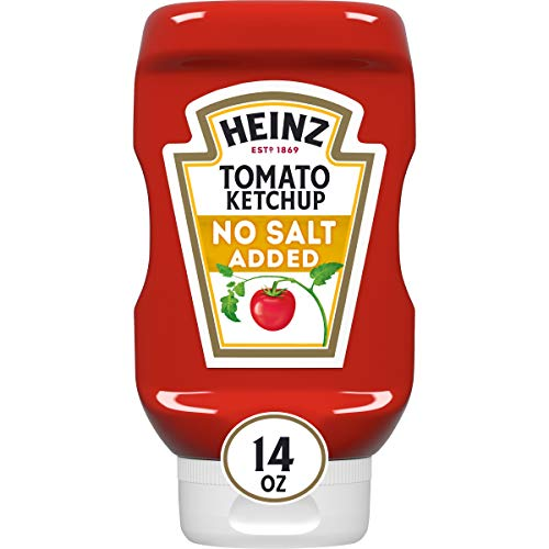 Heinz No Salt Ketchup (14oz Bottle)