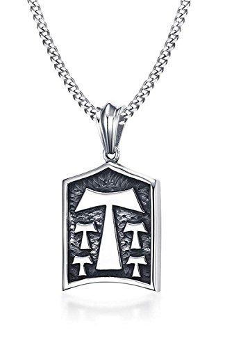 Randell Männer Edelstahl Zinn Tau T Kreuz Schild Dag Tag Anhänger Halskette Religiöse Schmuck,Freie Kette
