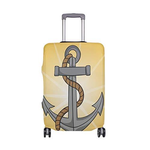 Anchor - Funda para Maleta de Viaje, Color Amarillo náutico, para Adulto, Mujer, Hombre, Adolescente, para 18 – 20 Pulgadas