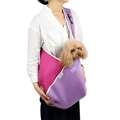 ペットパラダイス メッシュ スリング 折り畳み コンパクト 【小型犬】 ピンク