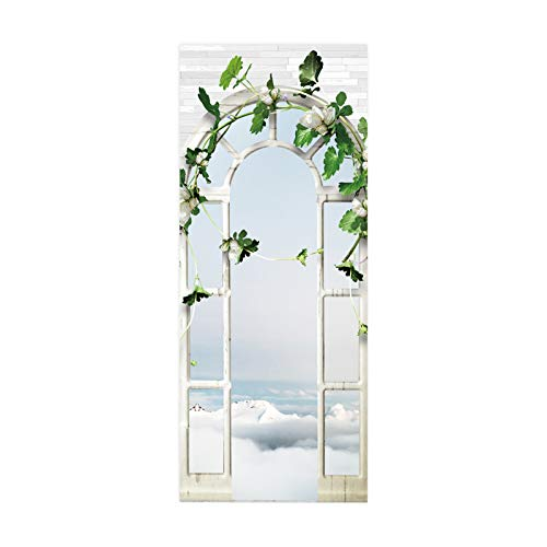 MACHINE BOY door sticker DIY Living Room Bedroom Home Decor Arched windows decorated with mosaics Size 77 * 200cm