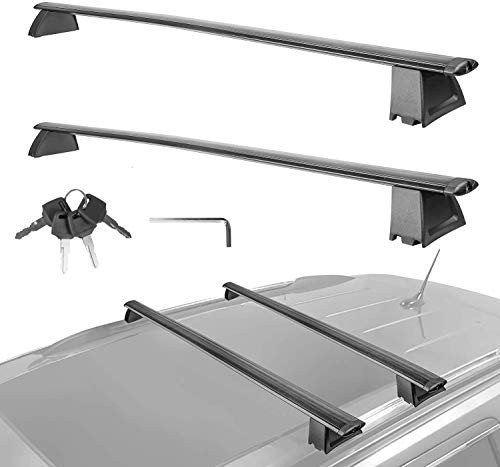 MOSTPLUS Roof Rack Cross Bar Luggage Rack for Jeep Grand Cherokee with Side Rails 2011 2012 2013 2014 2015 2016 2017 2018 2019(Not fit SRT & Altitude Models) Anti-Theft Design