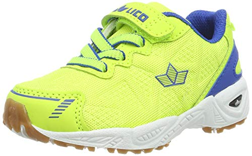 Lico Flori VS Multisport Indoor Schuhe Unisex Kinder, Lemon/ Blau, 30 EU