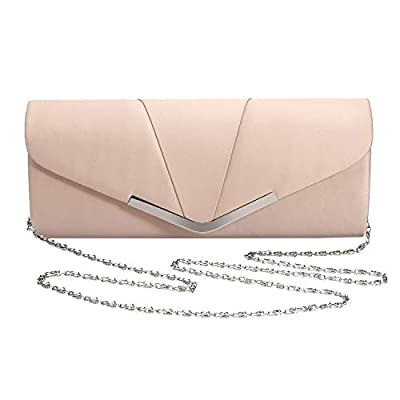 Womens Satin Clutch Evening Handbag for Party Cocktail Wedding Elegance Envelope Purse Wallet Bag