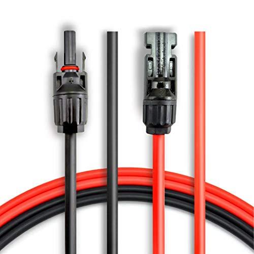 ANFIL 3M / 10 voet verlengkabel voor 10 AWG zonnepaneel met stekker en vrouwelijk MC4 Kit Adapter (10 rode voeten + 10 zwarte voeten)