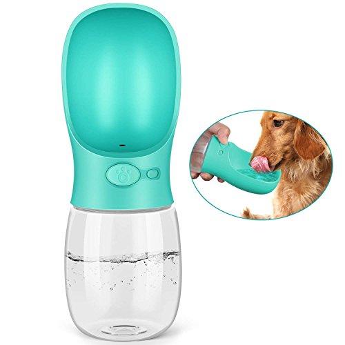 PEDY Botella de Agua para Mascotas Bebedero Portátil de Viaje para Perros y Gatos Fuente Portátil para Mascotas Capacidad de 350ML Color Azul