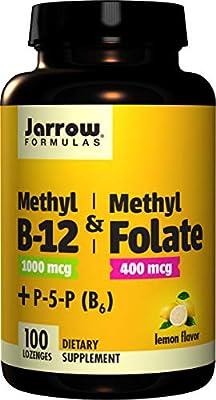 Jarrow Formulas Methyl B-12/Methyl Folate and Pyridoxal-5-phosphate (P-5-P) Lozenges