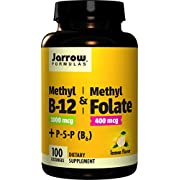Jarrow Formulas Methyl B-12/Methyl Folate and Pyridoxal-5-phosphate (P-5-P) Lozenges, Supports Brain Health, 100 Count