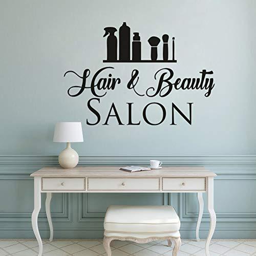 Wandaufkleber Haar-Und Schönheits-Salon-Haar, Das Haarschnitt-Kosmetische Hilfsmittel-Fenster-Friseursalon Anredet