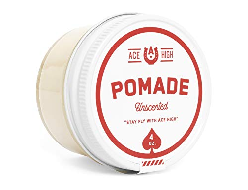 Price comparison product image Ace High Unscented Pomade,  Strong Hold,  Natural Shine,  Water Based,  Hand Crafted,  4oz