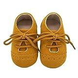 Zapatos Bebé Niña 2019 SHOBDW Zapatos Bebé Niño Verano Suela Suave Antideslizante Zapatillas Ata para Arriba Zapatos Bajos Linda Zapatos Bebé Recién Nacida Zapatos Bebe Primeros Pasos(Amarillo,0~6)