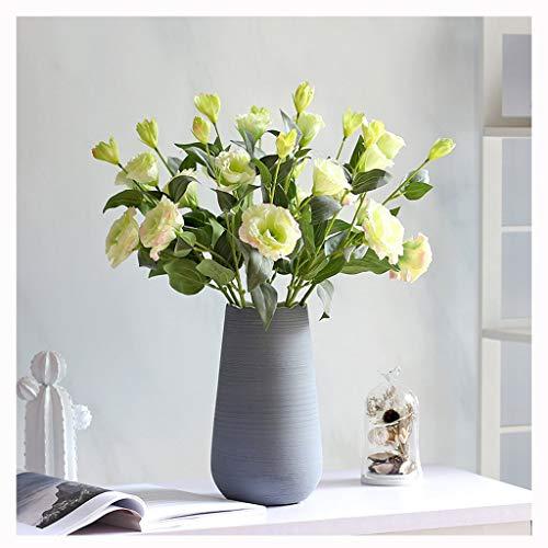 Jixi Künstliche Blumen mit Vase, Fälschung Silk Blumen Blumenarrangements for Home Hochzeit Bürocenter Dekoration Künstliche Blume (Color : B)