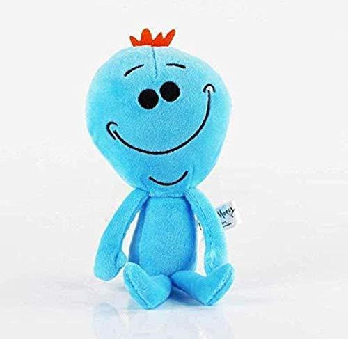 NC58 Juguete de peluche de dibujos animados de Rick Morty Feliz triste espumoso Mr Meeseeks muñecas de peluche Mr. Poopybutthole juguetes de peluche suaves 20-30 cm