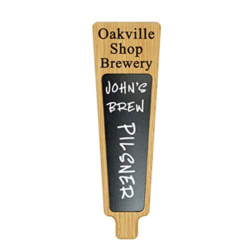 Custom Personalized Beer Tap Handle with Chalkboard Dry-erase Marker Board. Engraved with Personalized Text. Great for Tap Rooms, Breweries and Home Kegerators.