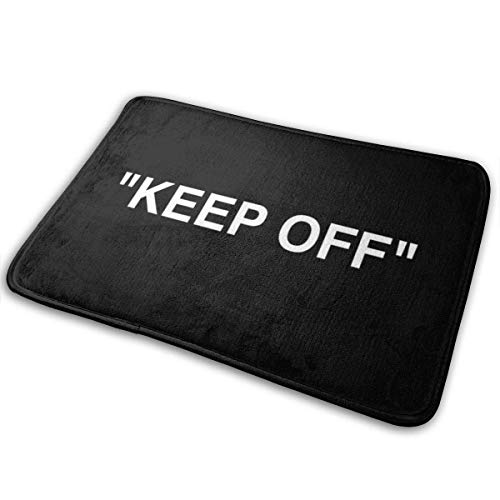 Off White IKEA Keep Off Rug Black Bath Mat Polyester Front Door Mat Bathroom Rugs Carpet for Inside Outdoor 15.8 X 23.6in